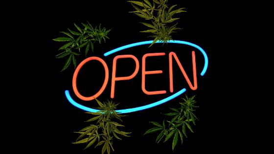 Marijuana Open Sign for MIchigan Marijuana businesses