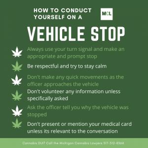 cannabis dui vehicle stop www.michigancannabislawyers.com