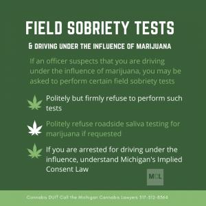 cannabis field sobriety tests www.michigancannabislawyers.com