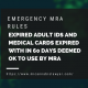 emergency MRA rules about expired licences www.micannabislawyer.com