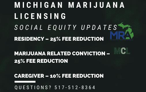 Michigan Marijuana Licencing MRA social equity program updates 2020 www.micannabislawyer.com